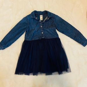OshKosh B'gosh Dresses - Denim & Tulle OshKosh Button Down Dress sz 3T